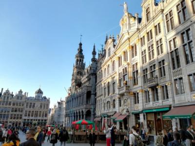 Brusel - budovy na náměstí