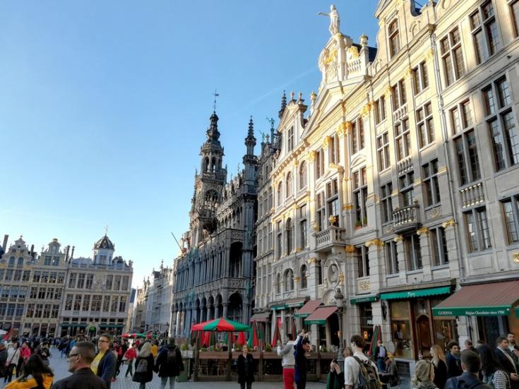 Brusel - budovy na Velkém náměstí